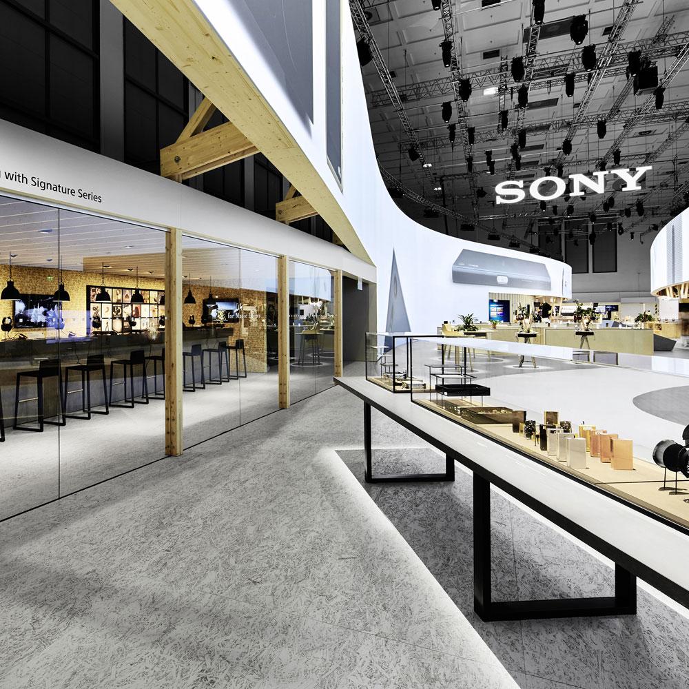 Messestand von SONY auf der IFA 2019 in Berlin Deutschland Europe - Tünnissen Interiors, Messen, Events und Ausstellungen NRW Deutschland Europe