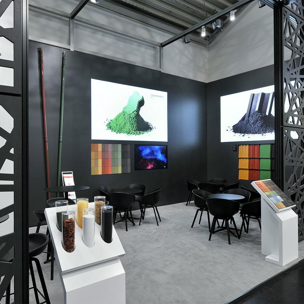 Messestand von Lanxess auf der bauma 2019 in München - Tünnissen Interiors, Messen, Events und Ausstellungen NRW Deutschland Europe
